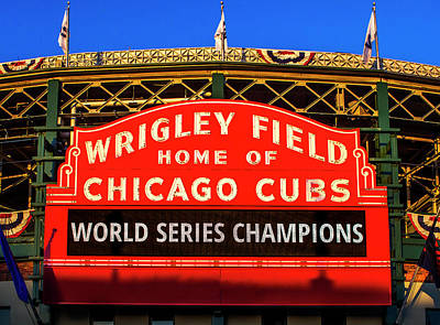 Cubs Win World Series Art Print by Andrew Soundarajan