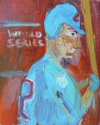 Cleveland Indians Painting - Cubs World Series 2016 by John Kilduff