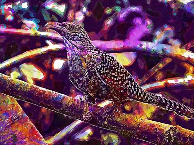 Cuckoo Digital Art - Cuckoo Asian Female Koel Koel Bird  by PixBreak Art