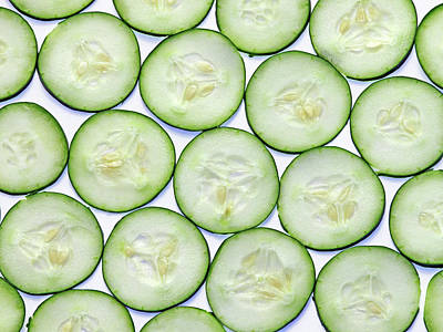 Cucumber Clices Print by Photo by Leonardo Martins