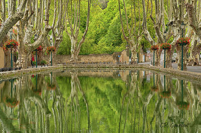 Photograph - Cucuron Reflection by CR Courson