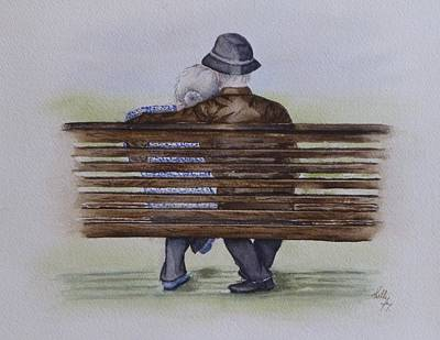 Painting - Cuddling Is Ageless by Kelly Mills