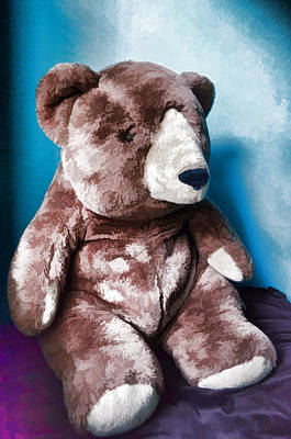 Cuddly Digital Art - Cuddly Teddy...stuffed Animal by Tom Druin