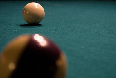 Cue Ball Photograph - Cue by Karen Musick