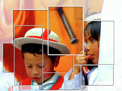 Photograph - Cuenca Kids 1001 by Al Bourassa