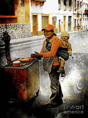 Photograph - Cuenca Kids 1003 by Al Bourassa