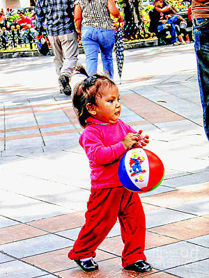 Photograph - Cuenca Kids 1093 by Al Bourassa