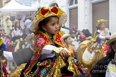 Christmas Eve Photograph - Cuenca Kids 630 - Painting by Al Bourassa