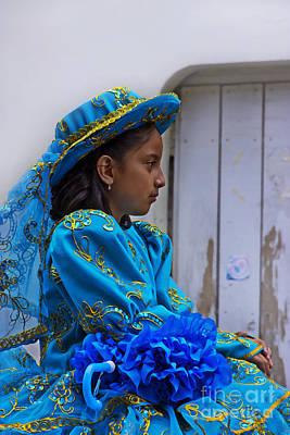 Senorita Photograph - Cuenca Kids 671 Painting by Al Bourassa