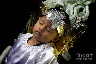 Smiling Jesus Photograph - Cuenca Kids 781 by Al Bourassa