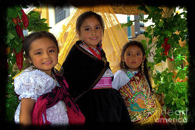 Christmas Eve Photograph - Cuenca Kids 860 by Al Bourassa