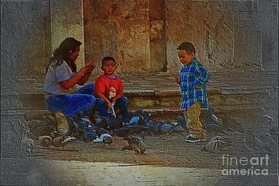 Cuenca Kids 875 Art Print by Al Bourassa