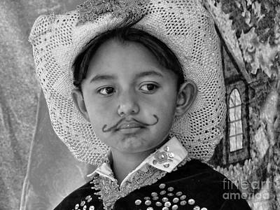 Print featuring the photograph Cuenca Kids 883 by Al Bourassa