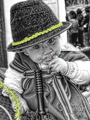 Christmas Eve Photograph - Cuenca Kids 888 by Al Bourassa
