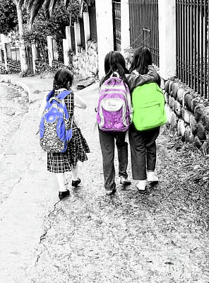 Photograph - Cuenca Kids 905 - School's Out by Al Bourassa