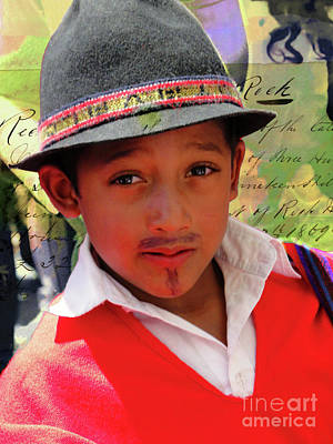 Photograph - Cuenca Kids 909 by Al Bourassa