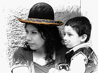 Photograph - Cuenca Kids 912 by Al Bourassa