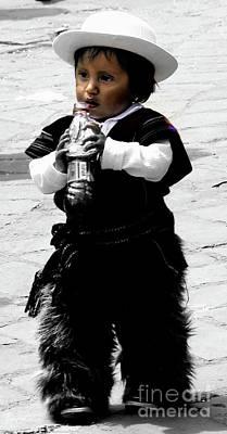 Photograph - Cuenca Kids 917 by Al Bourassa