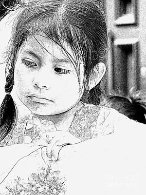 Photograph - Cuenca Kids 922 by Al Bourassa