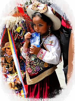 Photograph - Cuenca Kids 924 by Al Bourassa