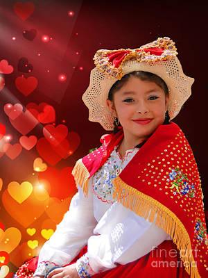 Smiling Jesus Photograph - Cuenca Kids 928 by Al Bourassa