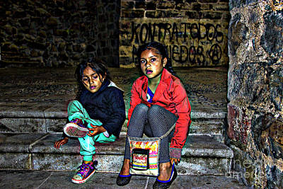 Photograph - Cuenca Kids 953 by Al Bourassa