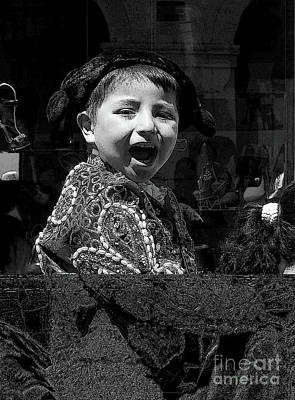 Photograph - Cuenca Kids 954 by Al Bourassa