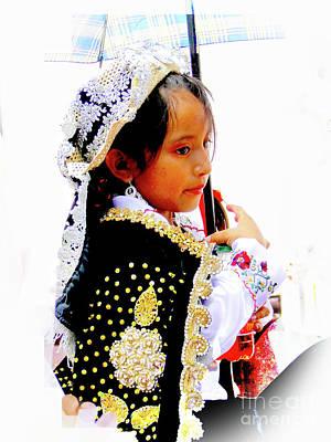 Photograph - Cuenca Kids 958 by Al Bourassa