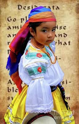 Photograph - Cuenca Kids 975 by Al Bourassa