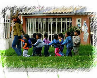 Photograph - Cuenca Kids 980 by Al Bourassa