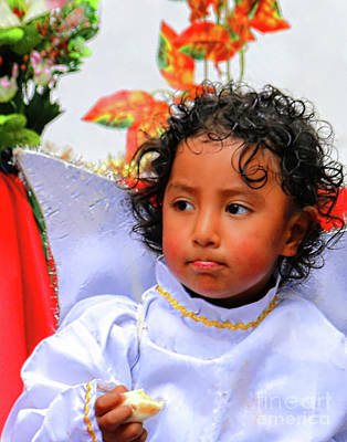 Photograph - Cuenca Kids 982 by Al Bourassa