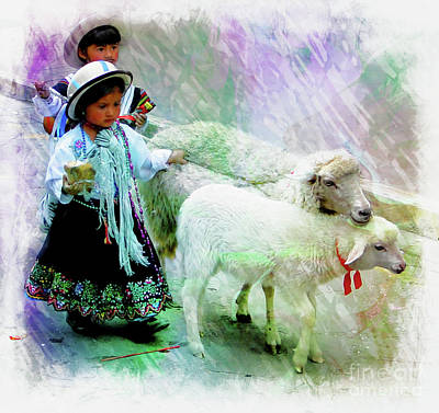 Photograph - Cuenca Kids 998 by Al Bourassa