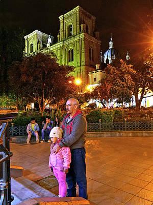 Photograph - Cuenca Parque Calderon A Noche 10 by Jeff Brunton