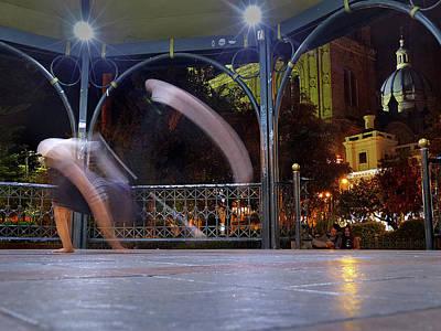 Photograph - Cuenca Parque Calderon A Noche 6 by Jeff Brunton