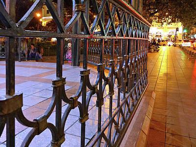 Photograph - Cuenca Parque Calderon A Noche 9 by Jeff Brunton