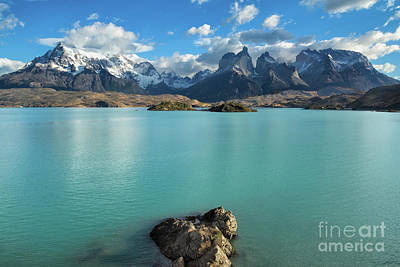 Cuernos Massif, Patagonia Art Print