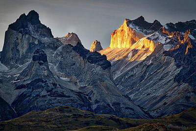 Photograph - Cuernos Sunset Begins #3 - Patagonia by Stuart Litoff