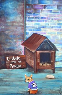 Outsider Painting - Cuidado Con El Perro by Laura Barbosa