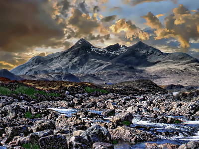 Photograph - Cuillin Mountain Range by Anthony Dezenzio