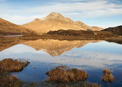 Photograph - Cul Beag And An Assynt Mountain Lake by Stephen Taylor