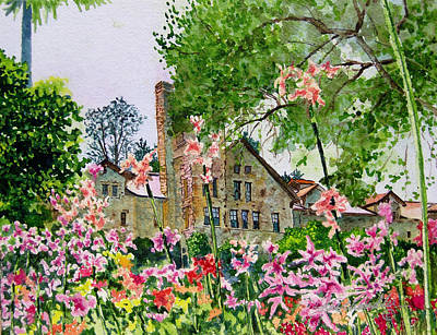 Cia Painting - Culinary Institute At Greystone by Gail Chandler