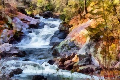 Painting - Cullasaja Falls by Lynne Jenkins