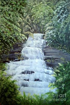 Cullasaja Falls Original by Sharon Eng