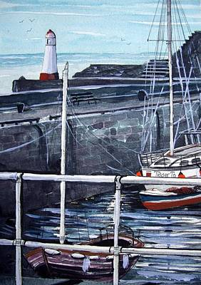 Fishing Bouys Painting - Cullen Beacon by Trudy Kepke