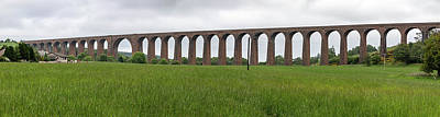 Photograph - Culloden Viaduct Panorama by Teresa Wilson
