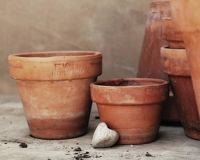 Italian Pottery Photograph - Cultivated With Love by Alison Sherrow I AgedPage