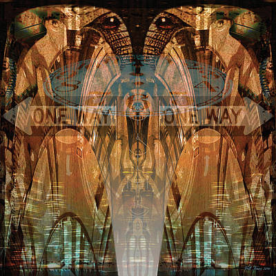 Opposing Forces Digital Art - Cultural Divide by Bill Jonas