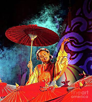 Digital Art - Cultural Parasol Dance by Ian Gledhill