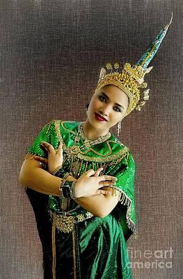 Digital Art - Cultural Siam Dancing Girl by Ian Gledhill