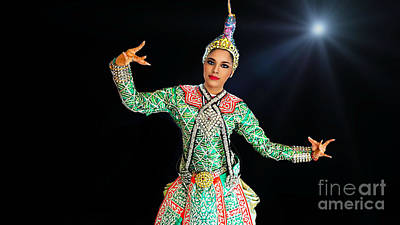 Digital Art - Cultural Thai Dancer by Ian Gledhill